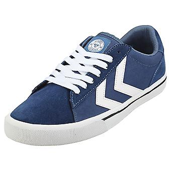 hummel Nile Low Mens Casual Trainers in Indigo