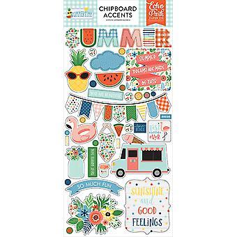 Echo Park Summertime 6x13 Polegadas Chipboard Acentos
