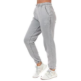 Women's Pink Soda Sport Wash Jog Pants in Grey