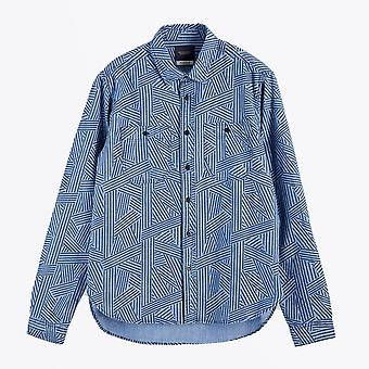 Scotch & Soda  - Cotton Chambray Workwear Shirt - Blue