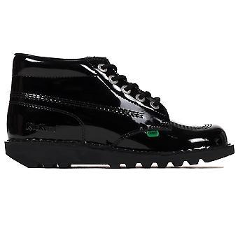 Kickers Kick Hi Classic Patent Womens Ladies Boot Shoe Triple Black