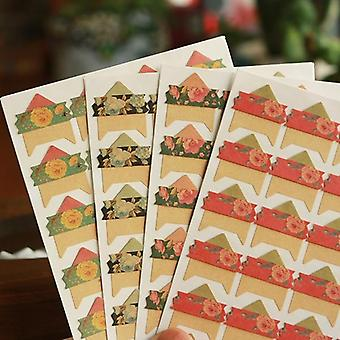 Vintage Flowers Corner Paper Diy Stickers For Photo Album Decoration