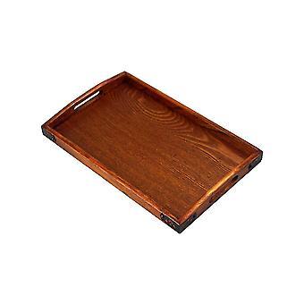 Vassoio rettangolare in legno 45x27x3cm