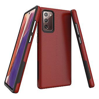Para Samsung Galaxy Note 20 Armour Funda protectora resistente cubierta roja