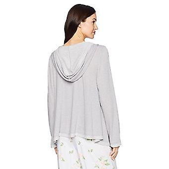 Marque - Mae Women's Loungewear Drape Front Hooded Cardigan, Gris clair ...
