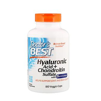 Doctor's Best, Hyaluron Acid + Chondroitin Sulfaat, 180 Veggie Caps