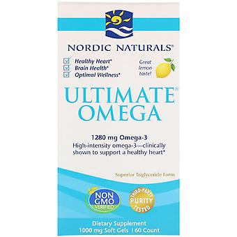 Nordic Naturals, Ultimate Omega, Lemon, 1.280 mg, 60 Soft Gels