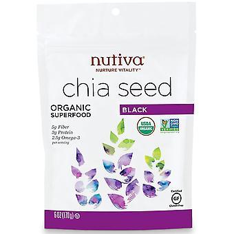Nutiva, Organic Chia Seed, Black, 6 oz (170 g)