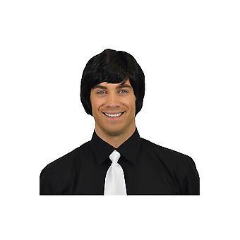 Parrucche Herenpruik steil zwart