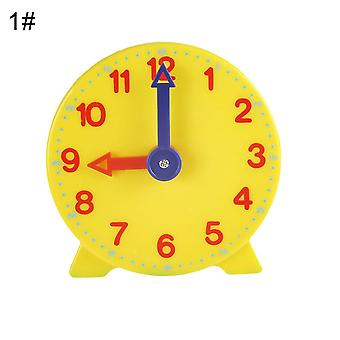 Pointer Clock Model Kid Child Toy - Early Learning Resources Time Montessori Math Toys Teacher Gear Clock Baby Gift