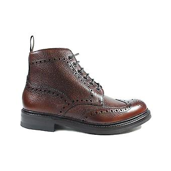 Loake Bedale Oxblood Grain Calf Leather Mens Derby Boots