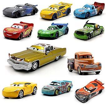 39 Style Lightning Mcqueen Pixar Cars 2 3 Metal Diecast Cars1:55 Vehicle