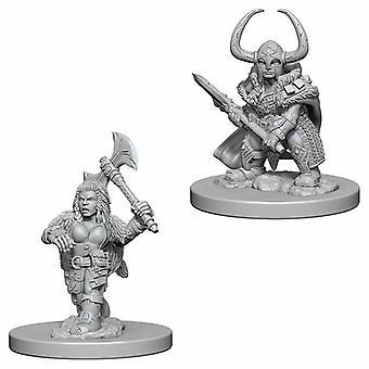 Donjons & Dragons Nolzur's Wonderfulous Unpainted Miniatures Dwarf Female Barbarian
