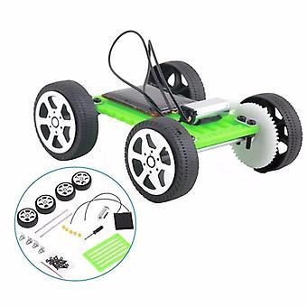 Mini Science Experiment Solar Bil leksaker för - Diy monterad energi Solar Powered