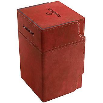 Gamegenic Watchtower 100-Card Conversível Deck Box Vermelho