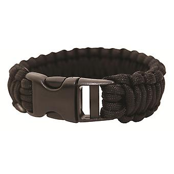 BCB Paracord Bracelets with Plastic Buckle - Black