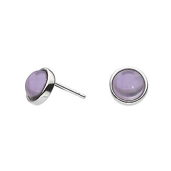 Dew Sterling Silver Amethyst Stud Earrings 3738AM021