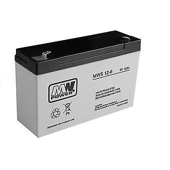 Batería recargable para el coche eléctrico 6V 12AH