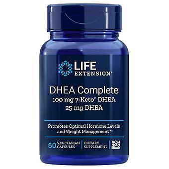 تمديد الحياة DHEA كاملة 7-كيتو، 100 ملغ، 60 قبعات الخضار