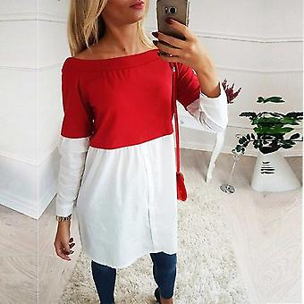 Female Maternity Tees Patchwork Big Size Clothes Tops For Pregnant Women Print