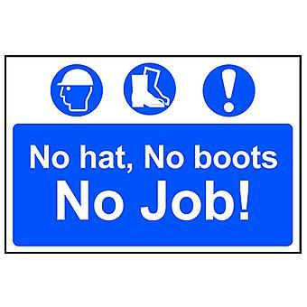 Scan No Hat, No Boots, No Job - PVC 600 x 400mm SCA4009