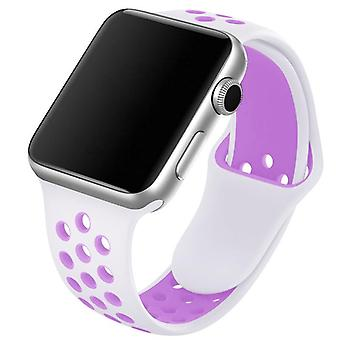 Bracelet bracelet respirant Silicone Sports pour Iwatch, adapté à Apple