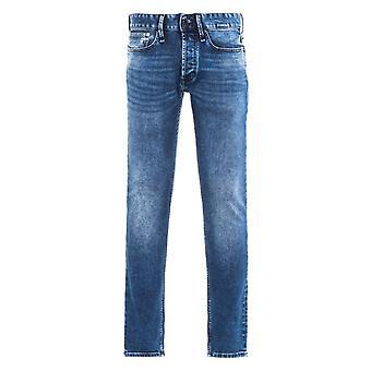Denham Razor Denim Blue & Black Slim Fit Jeans