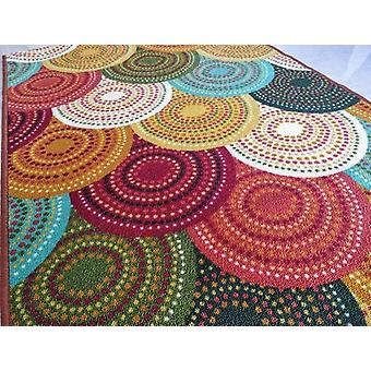 Anti-slip Small Carpet - (multi Colour) Polyester Area Rug