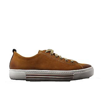 Remonte D0900-22 Tan Leather Womens Lace Up Casual Trainers