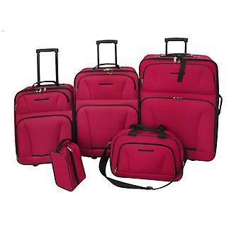 Matkasetti matkalaukkusarja 5-osainen punainen