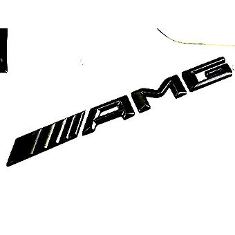 Gloss Black AMG Mercedes Benz Boot Lid Badge Emblem 185mm x 17mm