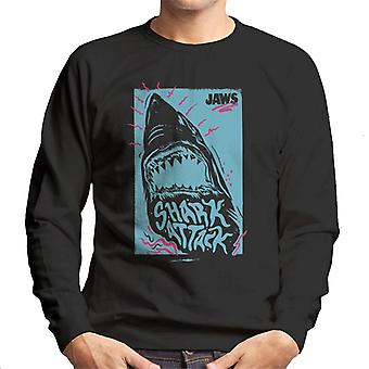 Jaws Shark Attack Wave Men's Sweatshirt