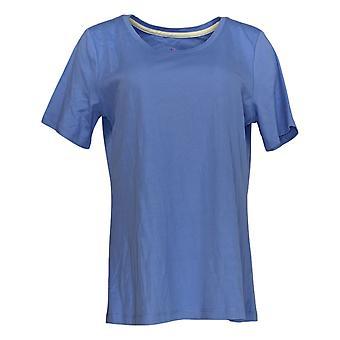 إسحاق مزراحي لايف! Women's Top Pima Cotton Scoop Neck T-Shirt Blue A379429