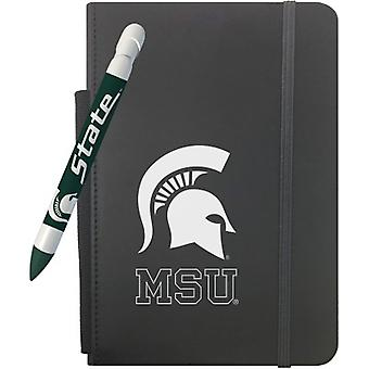 """1241M, Greeting Pen Michigan State Spartans 5"""" X 8.25"""" Notebook And 1 Rotating Message Pen Set (1241M)"""
