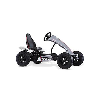 BERG grey race GTS E-BFR pedal go kart with pneumatic tyres and adjustable seat