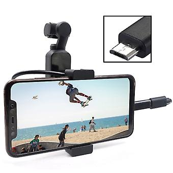 STARTRC Metal Holder Mobile Phone Holder Bracket Expansion Accessories with Android USB Data Cable for DJI OSMO Pocket