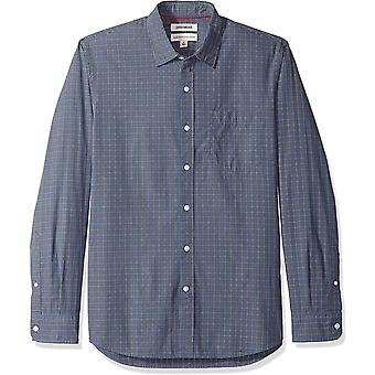 Marke - Goodthreads Men's Standard-Fit Long-Sleeve Plaid Poplin Shirt,...