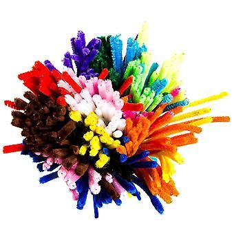 Pulitore di tubo 150 pezzi scovolini 6 Mm X 30 Cm piegatura peluche per bambini mestiere e decorazione 150 pz 15 colori