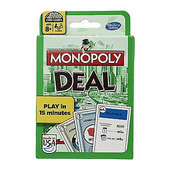 Hasbro Monopol Avtale Kort Spill-familie Party Leketøy
