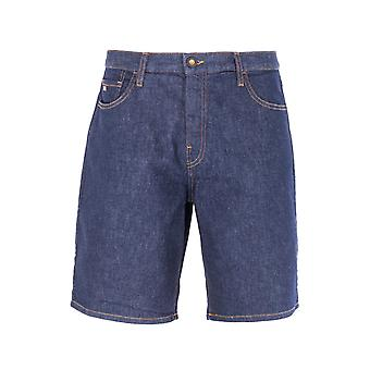 Emporio Armani 3D Rinse Denim Bermuda Shorts - Blue