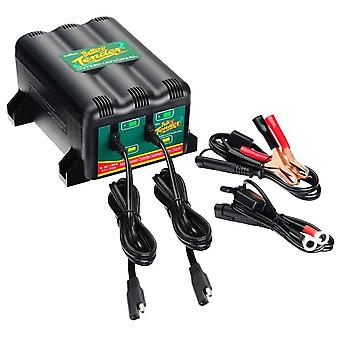 Deltran Battery Tender 12V 1 25A 2-Bank Motorcycle Battery Charger Protable Sparkproof