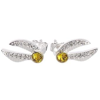 Harry Potter Sterling Silver Swarovski Boucles d'oreilles Golden Snitch