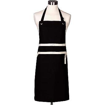 Le Creuset 4-Layered Textile Chef's Apron, Bibbed, Stain Resistant, Black
