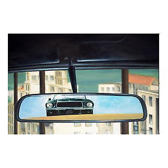 Larrini Bullitt Rear View Mirror Print