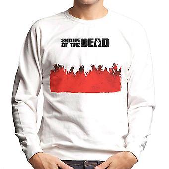 Shaun of the Dead Zombie Hands Silhouette Men's Sweatshirt