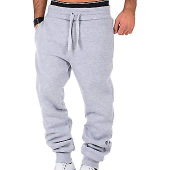 Mens Sweatpants Gyms Fitness Bodybuilding Joggers Calças, Homens Casual Loose