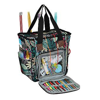 2020 Yarn Storage Bag With Maple Leaves Knitting Tote Bag Orange Square Bag