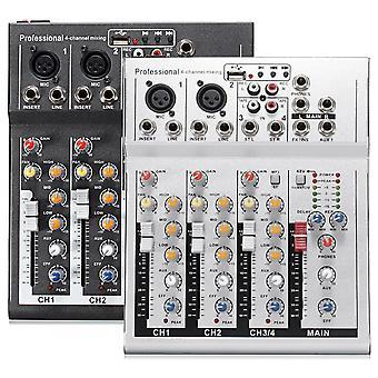 4 قناة المهنية لايف خلط استوديو الصوت USB KTV كاريوكي خلاط وحدة التحكم