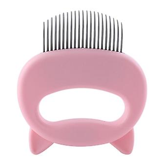 Pet Massage Brush Shell Shaped Handle Pet Grooming Massage Tool To Remove Loose