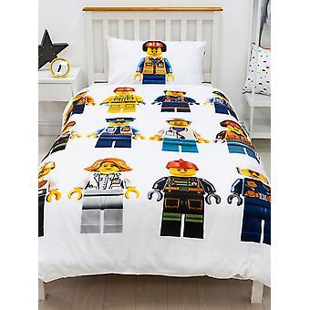 Lego City Hello Single Duvet Cover and Pillowcase Set